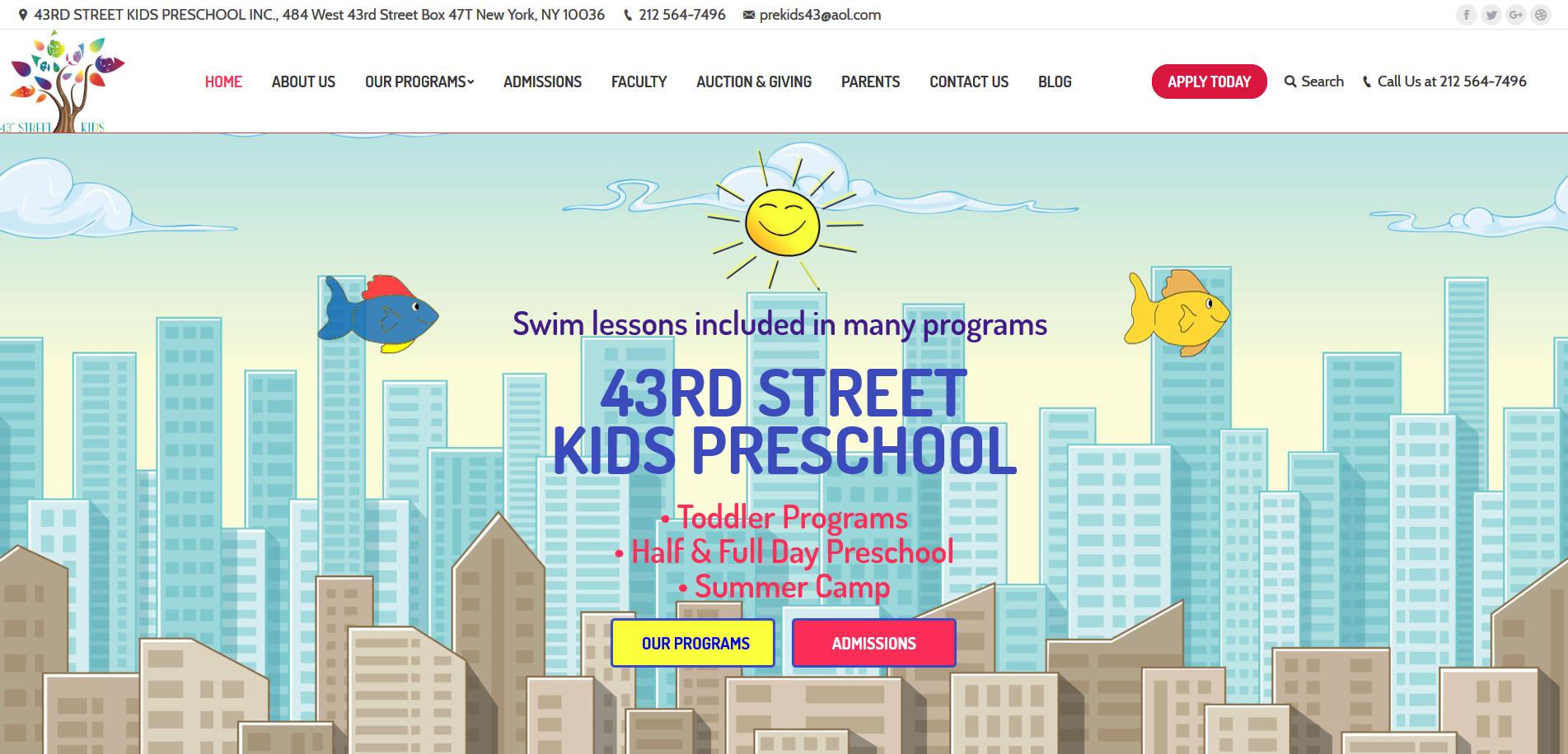 43rd Street Kids Preschool 1903x916