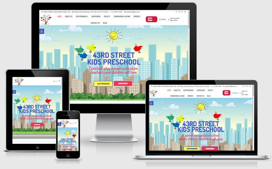 43rd Street Kids Preschool designed by Westside Virtual